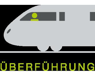 Überführung Schienenfahrzeuge